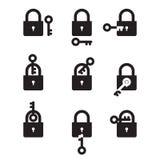 Cerradura y llave Imagenes de archivo