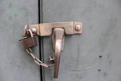 Cerraduras de acero del gabinete Imágenes de archivo libres de regalías