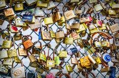 Cerraduras del amor Fotografía de archivo libre de regalías