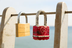 Cerraduras del amor imagen de archivo