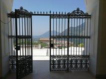 Cerreto Sannita - Gate of the Sanctuary of the Madonna delle Grazie. Cerreto Sannita, Benevento, Campania, Italy - 1 June 2018: Entrance gate to the seventeenth Royalty Free Stock Photo