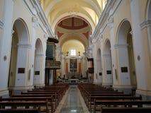 Cerreto Sannita - Central nave of the church of San Martino stock photo