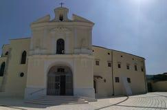 Cerreto Sannita - Sanctuary of the Madonna delle Grazie. Cerreto Sannita, Benevento, Campania, Italy - 1 June 2018: The seventeenth-century church dedicated to Royalty Free Stock Image
