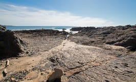 Cerritos Beach rocky surf spot in Baja California in Mexico. BCS Stock Images