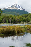 Cerro κόνδορας και Lago Roca, εθνικό πάρκο Γης του Πυρός, Ushu Στοκ εικόνες με δικαίωμα ελεύθερης χρήσης
