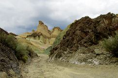 Cerro Alcazar rock formation Stock Photo