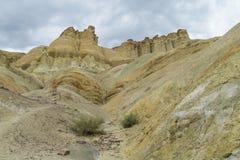 Cerro Alcazar rock formations in Calingasta Royalty Free Stock Images