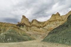 Cerro Alcazar rock formations in Calingasta Stock Photo
