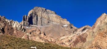 Cerro Almacenes Morro en Mendoza, la Argentina Foto de archivo