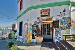 Cerro Artilleria shop. Valparaiso. Chile Royalty Free Stock Photography