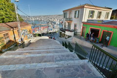 Cerro Artilleria valparaiso chile Photo stock