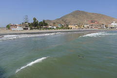 Cerro Azul beach at south of Lima, Peru Stock Photos