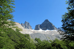 Cerro Castillo βουνό, Χιλή στοκ εικόνα