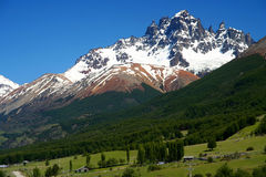 Cerro Castillo. Mount Cerro Castillo seen from Carretera Austral southern Chile Stock Photos