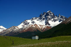 Cerro Castillo. Mount Cerro Castillo seen from Carretera Austral southern Chile Stock Photo