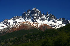 Cerro Castillo. Mount Cerro Castillo seen from Carretera Austral southern Chile Stock Images