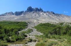 Cerro Castillo berg, Chile arkivbild