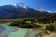 Cerro Castillo Range. Mount Cerro Castillo seen from Carretera Austral southern Chile royalty free stock photo