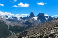 Cerro Castillo range. Austral Andes Cerro Castillo roky and snow mountain range in Chile royalty free stock image