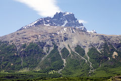 Cerro Castillo rocky peak, Chile royalty free stock photos