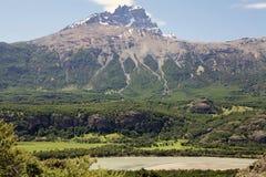 Cerro Castillo rocky peak, Chile stock image