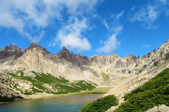 Cerro Catedral bergen in Bariloche royalty-vrije stock afbeelding
