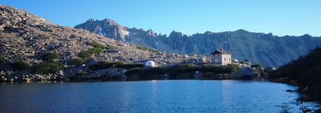 Cerro Catedral and Lago Toncek Stock Photos