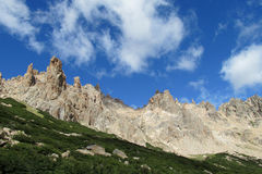 Cerro Catedral mountains in Bariloche Royalty Free Stock Images