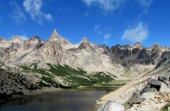 Cerro Catedral range rocky peaks, Argentina Stock Photos