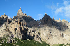 Cerro Catedral rotsachtige piek Stock Fotografie