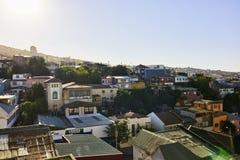 Cerro Concepción Neighborhood, Valparaiso-Gebouwen en Architec royalty-vrije stock afbeeldingen