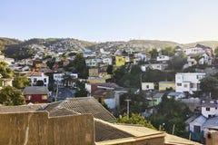 Cerro Concepción Neighborhood, Valparaiso-Gebouwen en Architec royalty-vrije stock afbeelding