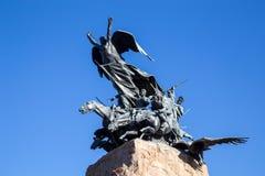 Cerro de la Gloria in Mendoza, Argentina. Mendoza, Argentina - November 22, 2015: The monument on top of the hill of glory, set in place for the anniversary of Stock Photo