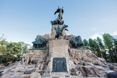 Cerro de la Gloria monument in Mendoza, Argentina. Royalty Free Stock Photography