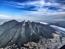 Cerro de la Silla. Monterrey City is well known because of this landmark stock image