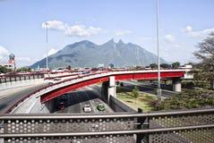 Cerro de la Silla Monterrey Mexico. Photograph of the city of Monterrey Mexico and its characteristic Cerro de la Silla mountain Stock Photography