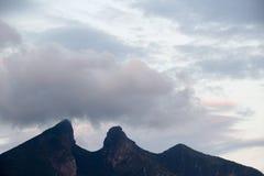 Cerro de la Silla mountain in Monterrey city. Photograph of Cerro de la Silla mountain un Monterrey City in Mexico Stock Photo