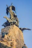 Cerro De Los angeles Gloria zabytek w Mendoza, Argentyna. zdjęcia royalty free