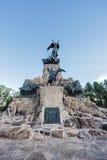 Cerro De Los angeles Gloria zabytek w Mendoza, Argentyna. zdjęcia stock