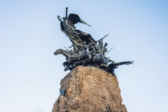 Cerro De Los angeles Gloria zabytek w Mendoza, Argentyna fotografia royalty free