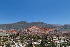 Cerro de los siete colores, Purmamarca Arkivbild