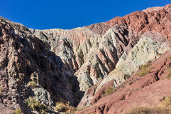 Cerro de los Siete Colores, Purnamarca, Argentina Royalty Free Stock Photos