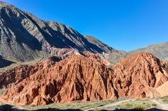 Cerro de los Siete Colores, Purnamarca, Argentina Stock Images