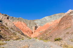 Cerro de los Siete Colores, Purnamarca, Argentina Royalty Free Stock Photo