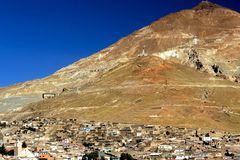 Cerro de Potosi, Bolivia. This image shows the town of Potosi in Bolivia Royalty Free Stock Image