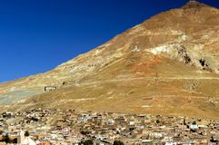 Cerro de Potosi - Potosi. This image shows the town of Potosi in Bolivia Stock Photo