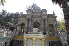 Cerro de Santa Lucia Gate. The gate of Cerro de Santa Lucia Stock Images