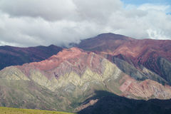 Cerro de siete colores in Argentina Stock Photography