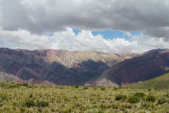 Cerro De Siete colores, Argentyna góry Zdjęcie Royalty Free
