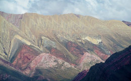 Cerro de siete colores, red color mountains Stock Images